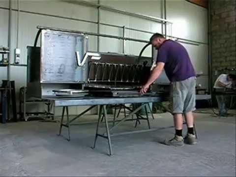 Maxi barbecue grill youtube for Barbecue fai da te in ferro