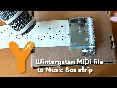 Wintergatan MIDI file to Music Box strip - Project Begins