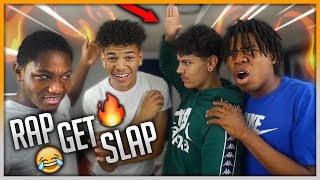 IF YOU RAP YOU GET SLAPPED (PART 3) 😭👋🏼 WE THREW HANDS 😡