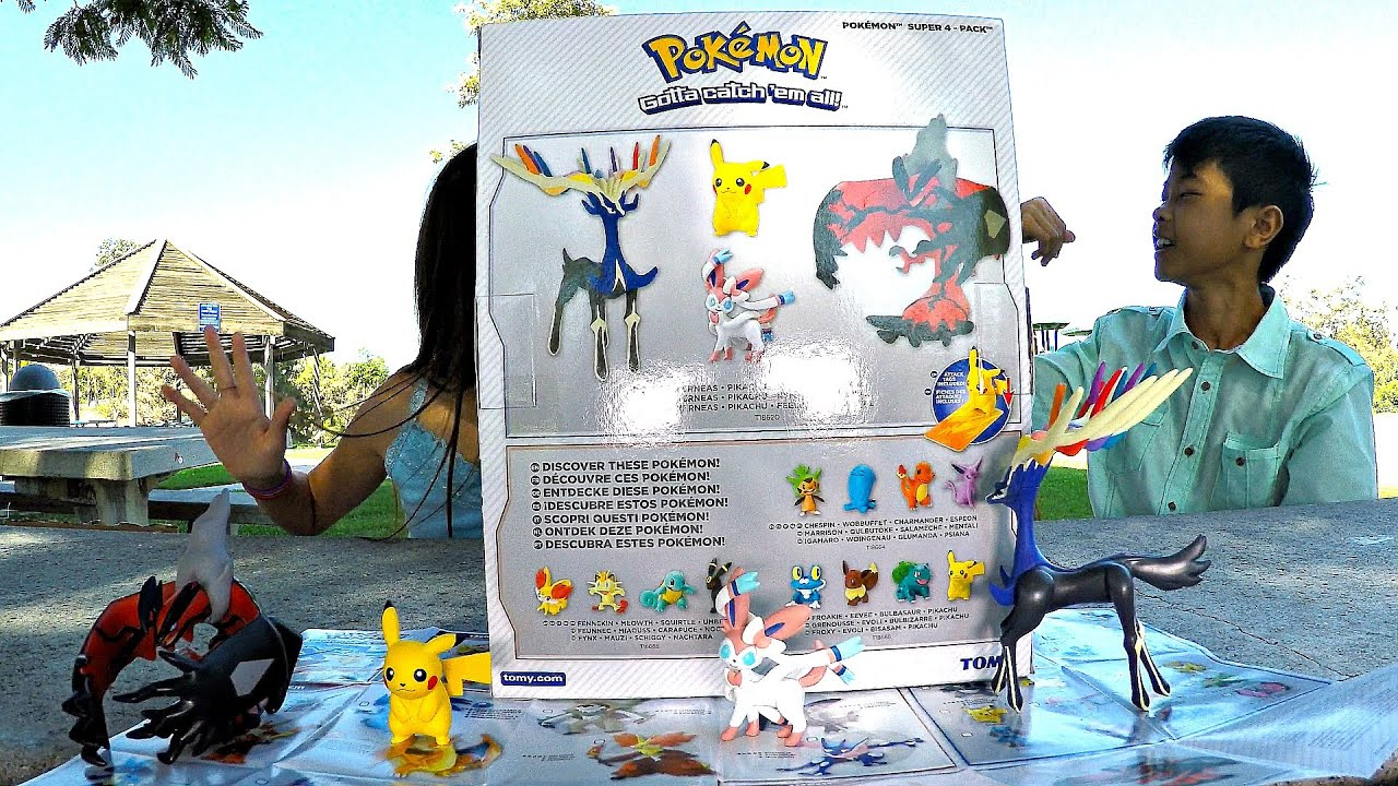 pokemon xy series 1 super 4 pack toy unboxing review xerneas pikachu sylveon yveltal. Black Bedroom Furniture Sets. Home Design Ideas
