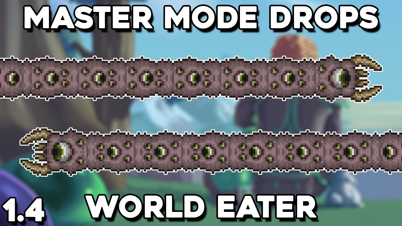 Eater Of Worlds Master Mode Drops Pet Trophy Terraria 1 4 Guide Youtube
