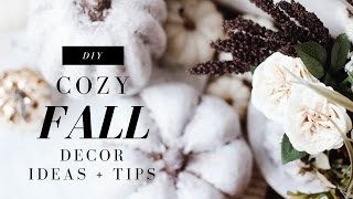 DIY Fall Decor! Cozy Fall Home Tour! Anthropologie Inspired! Easy + Affordable