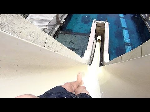 Leap of Faith Water Slide at Atlantis the Palm Dubai