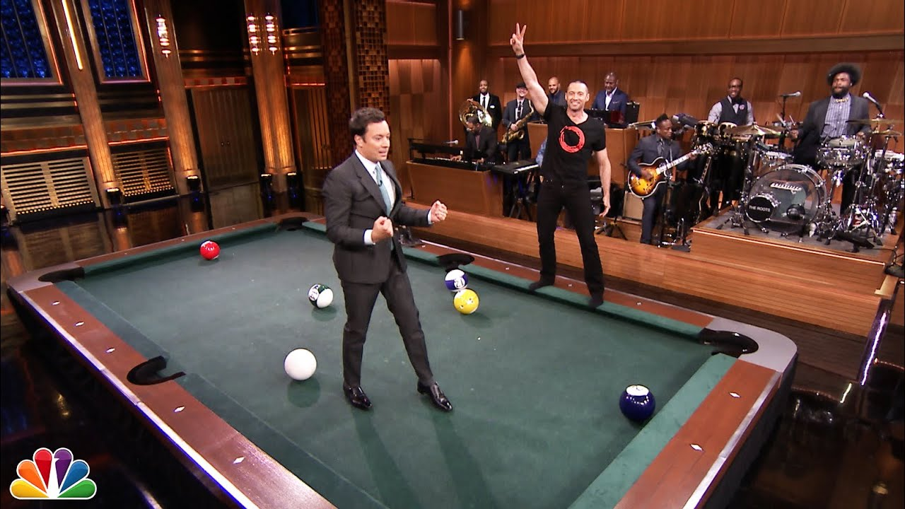 Pool Bowling With Hugh Jackman YouTube - How big is a full size pool table
