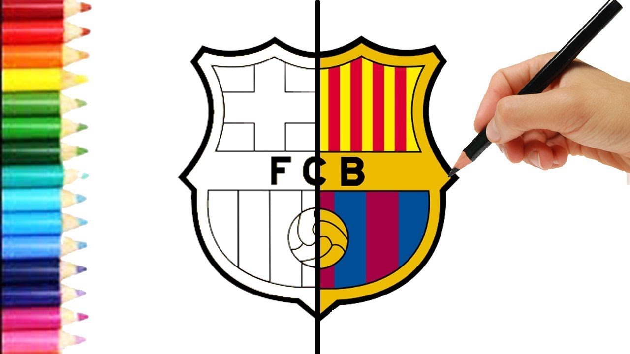Como dibujar al barcelona escudo bar a speed paint for Sala facil de dibujar