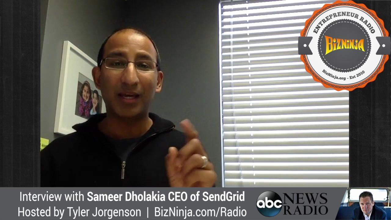 bizninja interview with sendgrid ceo sameer dholakia youtube