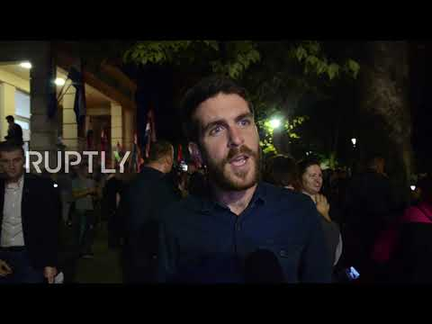Bosnia and Herzegovina: Protesters rally against Croat elected to Bosnia's presidency