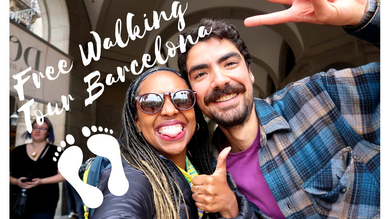 Black solo Travel vlog \\Free Walking Tour Barcelona!!
