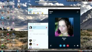 Девочка на вебке Skype