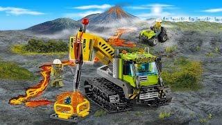 LEGO CITY Вездеход и квадроцикл исследователей вулканов - Видео для детей про конструктор Лего Сити