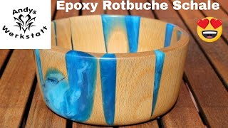 Epoxy Resin Rotbuche Schale Bowl - Finish / Handauflage selber machen / Part 2