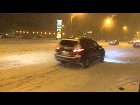Snow, North York, Toronto 15 December 2013- HD