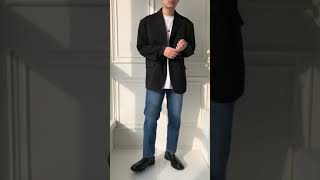 에이도트 남자 빅사이즈 오버핏 블레이저 자켓 코디 추천…