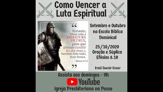Escola Bíblica Dominical - 25.10.2020