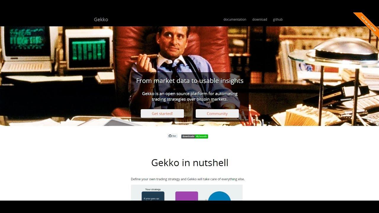 Instalación Gekko Trading Bot Bitcoin, criptomonedas en Windows