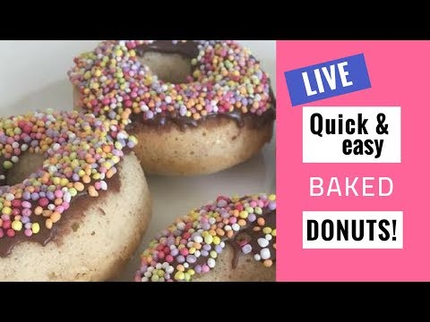 Easy baked donuts | Simple Kitchen | LIVE | AD