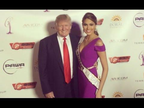 Miss Universe 2013, Gabriela Isler alabada por Donald Trump en el lanzamiento del Miss Universe 2014