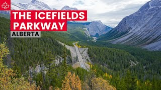 Driving the ICEFIELDS PARKWAY (from Lake Louise to Jasper Alberta)