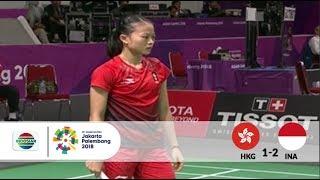 Download Video HKG v INA – Badminton Beregu Putri - Full Highlight Partai Ketiga - Tunggal Putri | Asian Games 2018 MP3 3GP MP4