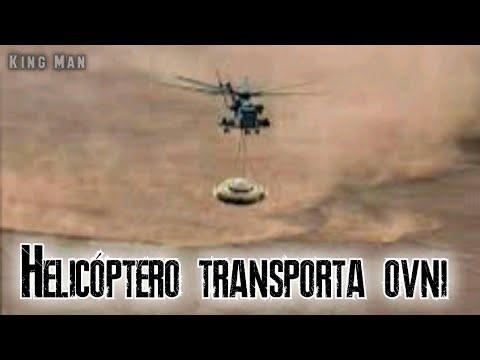 Video de Helicóptero transportando OVNI ya es viral en redes sociales