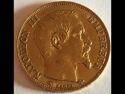 OLD COIN collection 1856 - 1990 // GOLD NAPOLEON III 1856 !!!