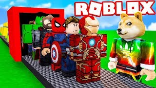 MANUFACTURE OF THE AVENGERS IN ROBLOX!? SUPER HEROES IN ROBLOX 😱