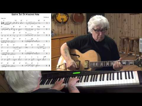 Keepin' Out Of Mischief Now  - Jazz guitar & piano cover - Yvan Jacques