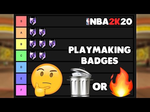 RANKING ALL THE PLAYMAKING BADGES IN TIERS ON NBA 2K20