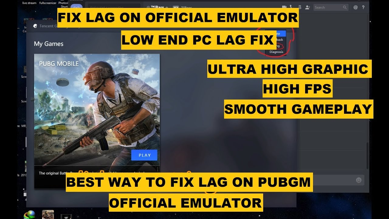 HOW TO FIX LAG on PUBG MOBILE EMULATOR, SMOOTH GAMEPLAY LOW, HIGH END PC