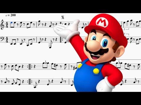 Sheet Music - Super Mario Bros Theme (Trumpet/Tuba Duet)