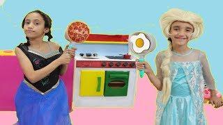 السا ضد انا ! تحدي  الطبخ !!!