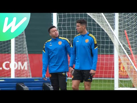 Cristiano Ronaldo trains with Manchester United ahead of Atalanta Champions League meeting | UCL