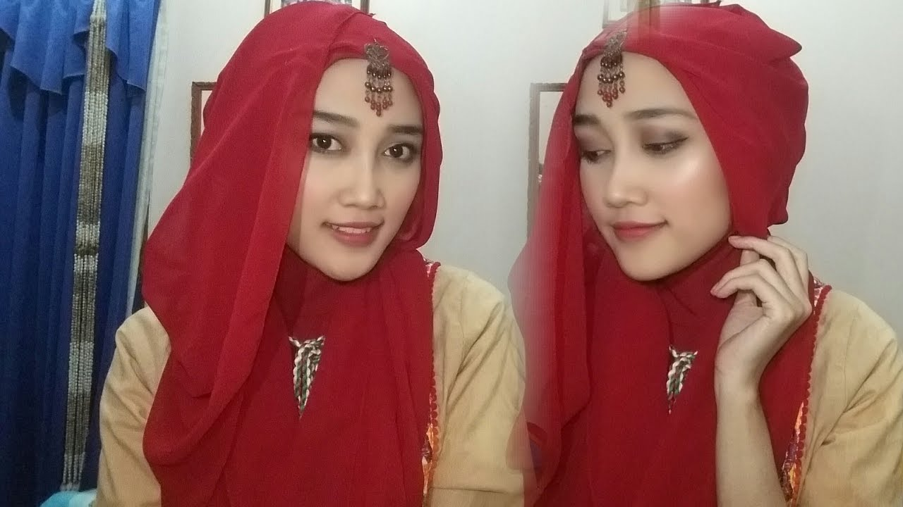 Tutorial Hijab Pashmina India Style YouTube