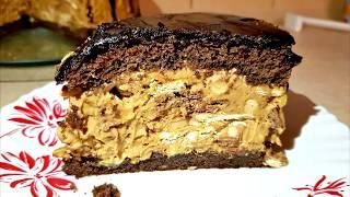"Торт  на Скорую Руку ""СНИКЕРС""  Вкуснее Торта я Не Ела! Cake ""Snickers"""