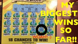 MY BIGGEST AND BEST WINS SO FAR playing California Lottery Scratchers - Updated September 26th 2016 | Keph Empire