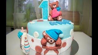 Торт с мишками Тедди Декор торта мастикой
