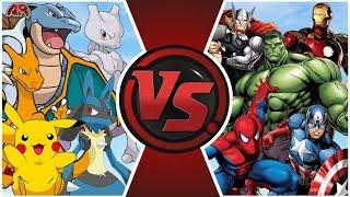 POKÉMON vs AVENGERS TOTAL WAR! (Animation)   Cartoon Fight Club Episode 292