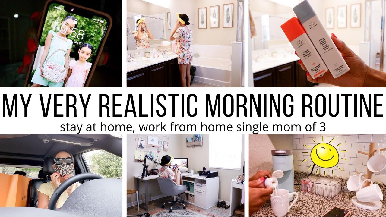 SINGLE MOM OF 3 MORNING ROUTINE// STAY AT HOME, WORK FROM HOME SINGLE MOM// Jessica Tull