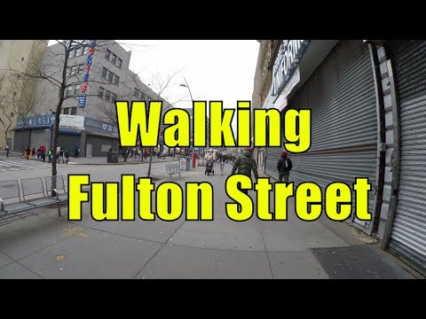 ⁴ᴷ Walking Tour of Brooklyn, NYC - Fulton Street from Broadway Junction to Brooklyn Bridge Park
