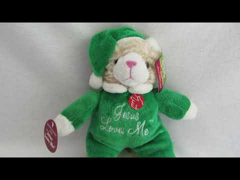 Christmas Kitten Plush Sings Jesus Loves Me