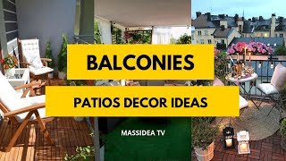 50+ Awesome Balconies Patios Decor Ideas for Your House