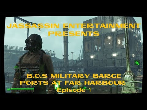 Fallout 4 B.O.S Military Barge Ports at Far Harbour Episode 1.
