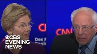 Hot mic catches tense moment between Sanders and Warren