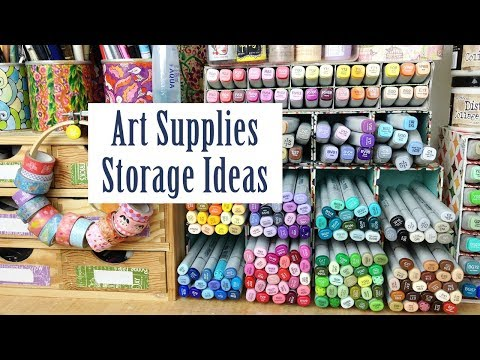 Art Supplies Storage Ideas How I Copic Markers Washi Tape