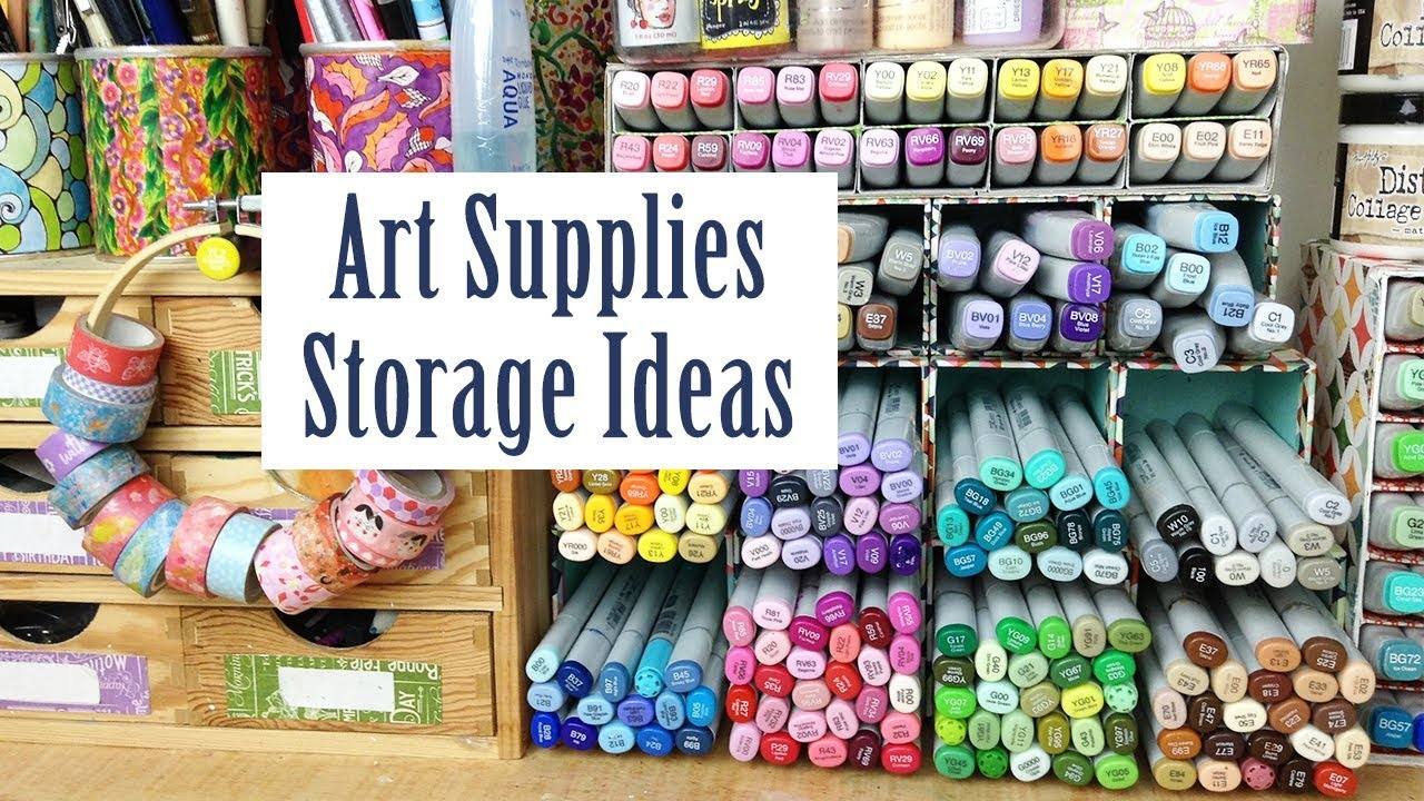 Art Supplies Storage Ideas: How I Store Copic Markers, Washi Tape, Pencils  - Storage Solutions