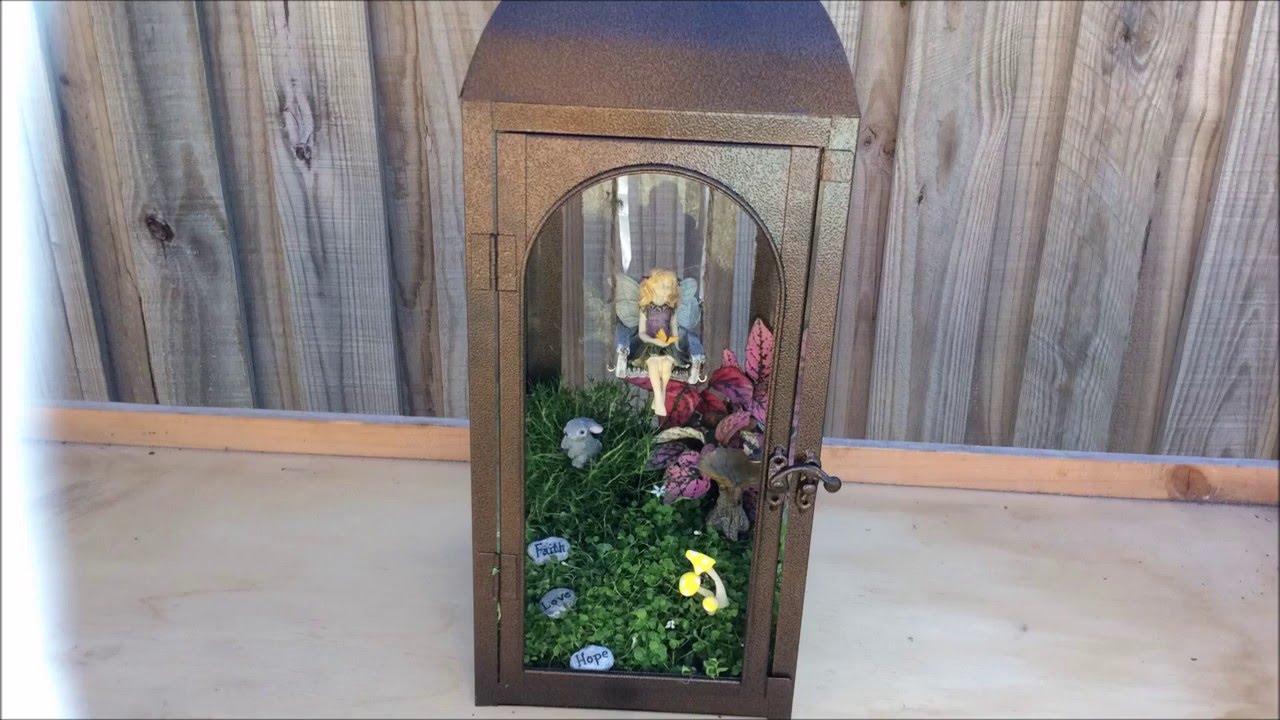 Lantern Fairy Garden