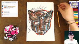 How to draw a Transformers logo
