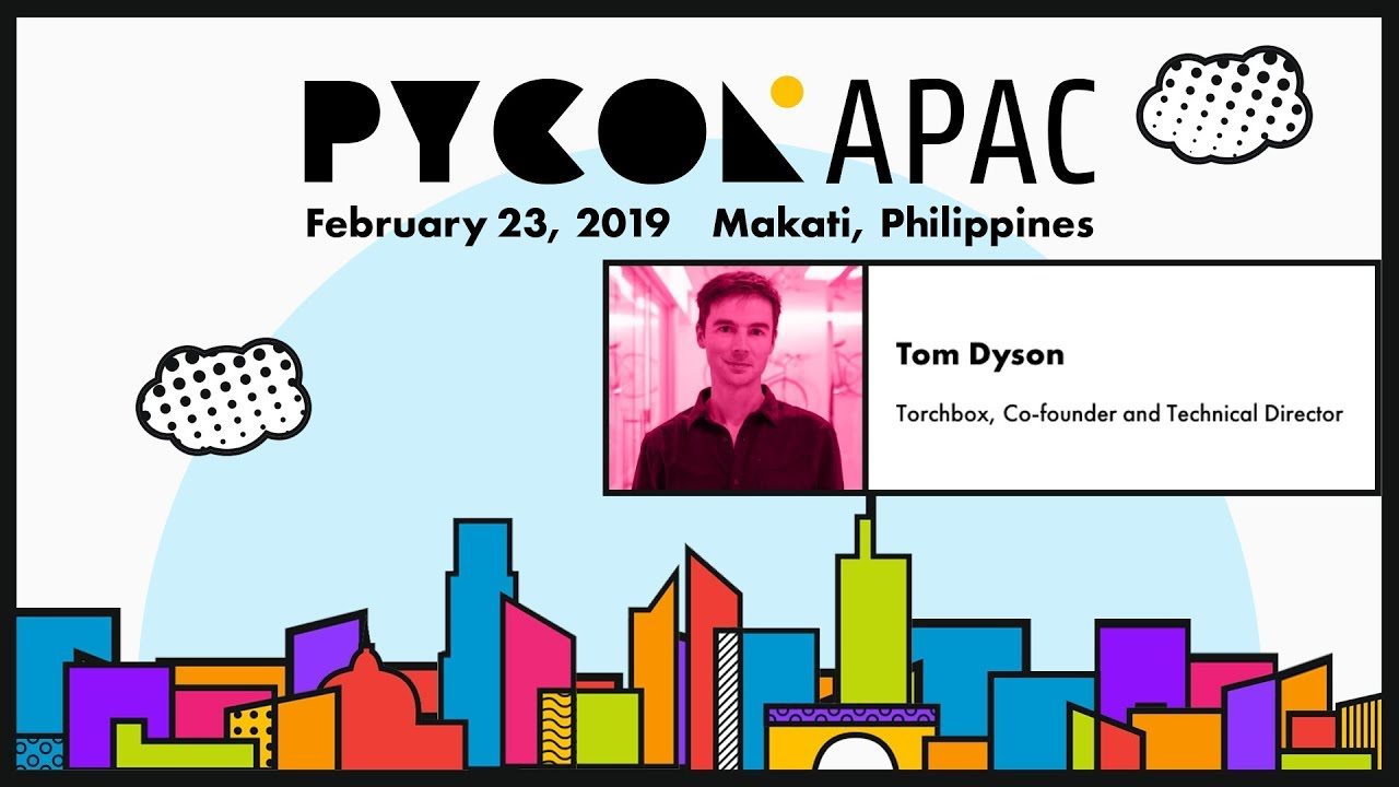 Image from Pycon APAC 2019 - Tom Dyson - Here Come The Robots - Python and Machine Learning