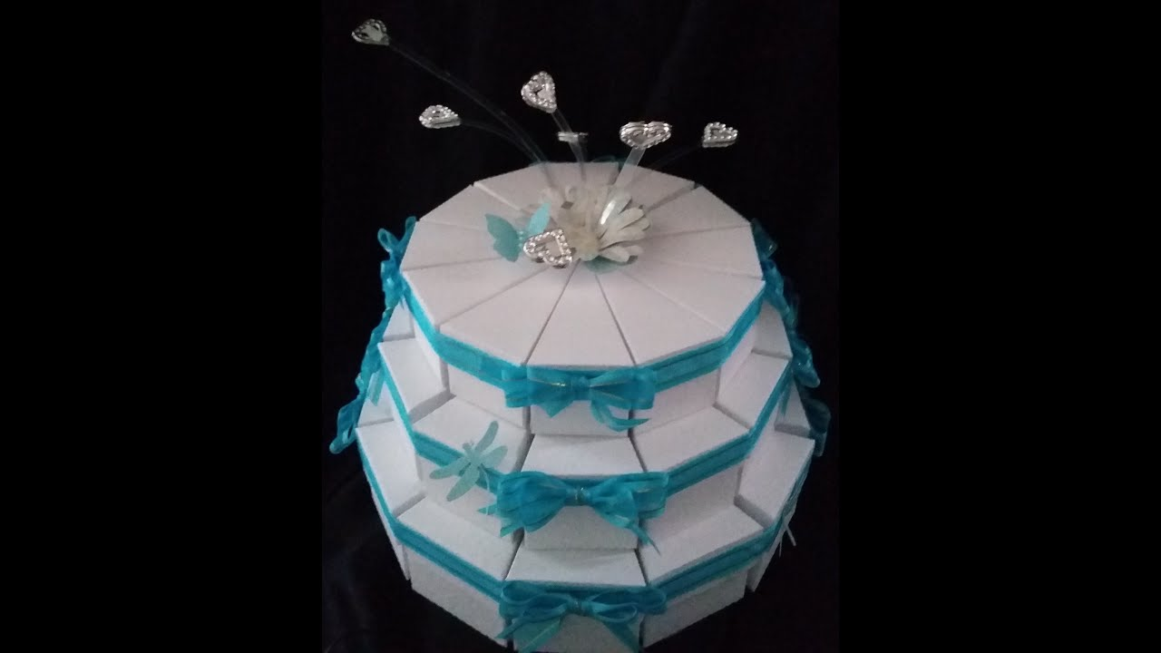 Wedding Decorations. Wedding Cake Gift Box   YouTube