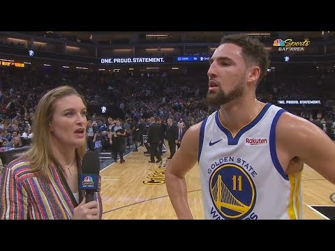 Klay Thompson Gets Shy During Interview With Female Reporter & Completely Messes Up!